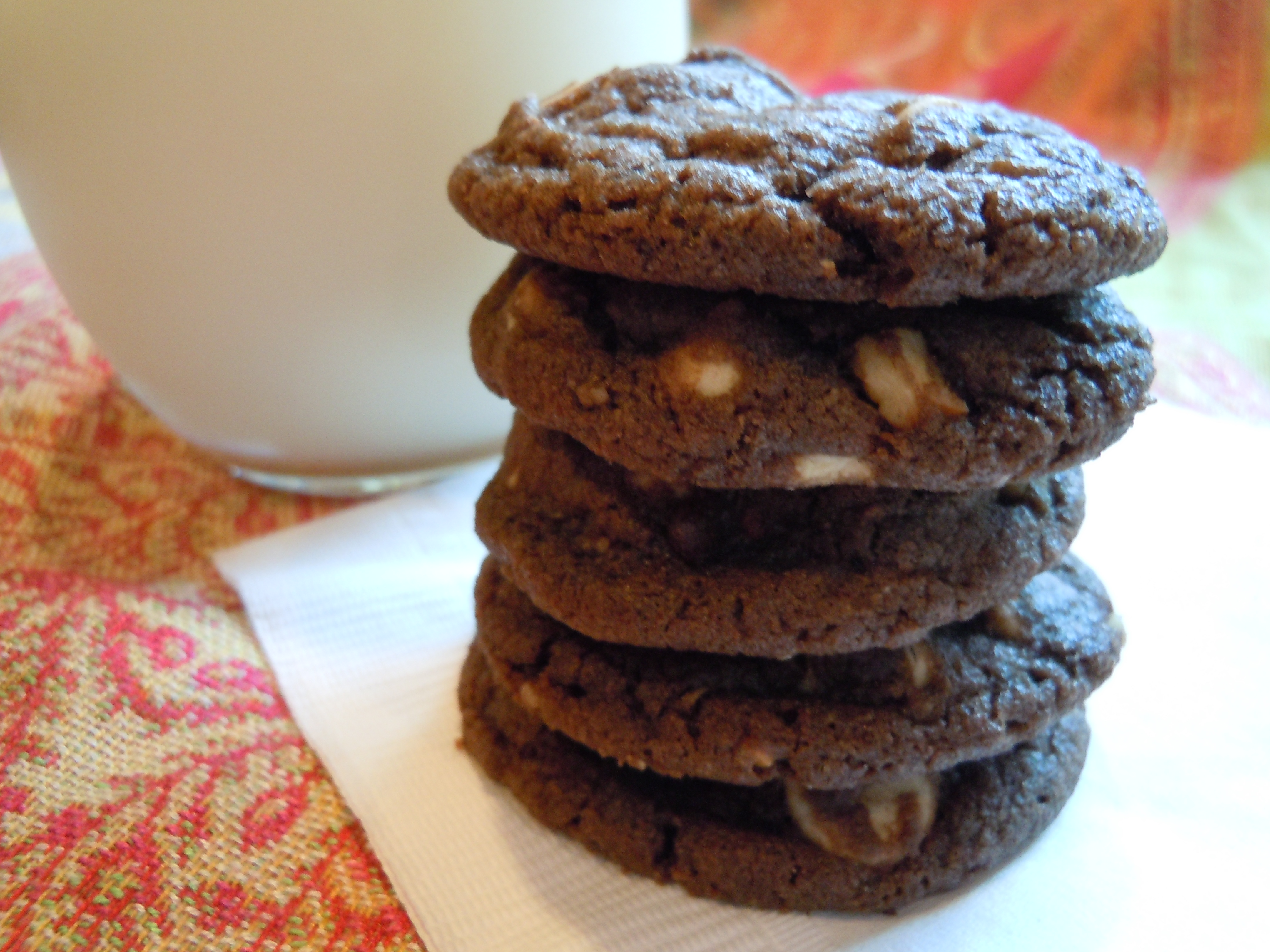 Dark Chocolate Cookies with Chips & Nuts | CookiesCakesPiesOhMy