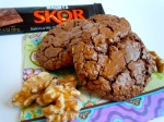 Brownie Cookies with Toffee & Toasted Walnuts