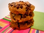 Almond Butter Cookies with Mini Chocolate Chips