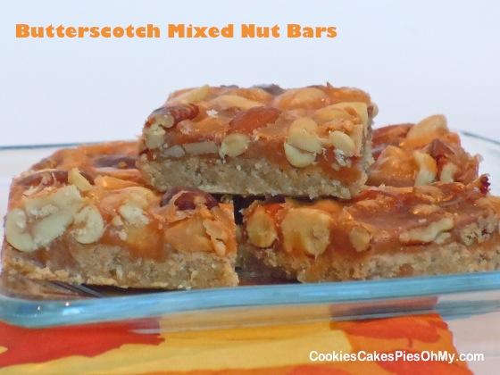 Butterscotch Mixed Nut Bars