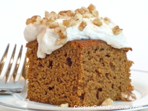 Pumpkin Gingerbread with Cinnamon Pumpkin Cream Frosting