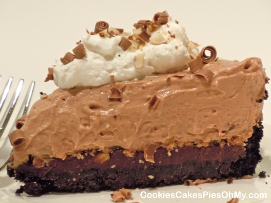 Triple Chocolate Hazelnut Pie
