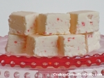 White Chocolate Candy Cane Fudge