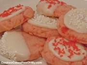 White Chocolate Cherry Shortbread Cookies