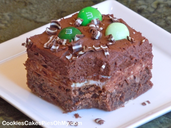 Chocolate Mint Marshmallow Brownies