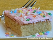 White Chocolate Sheet Cake