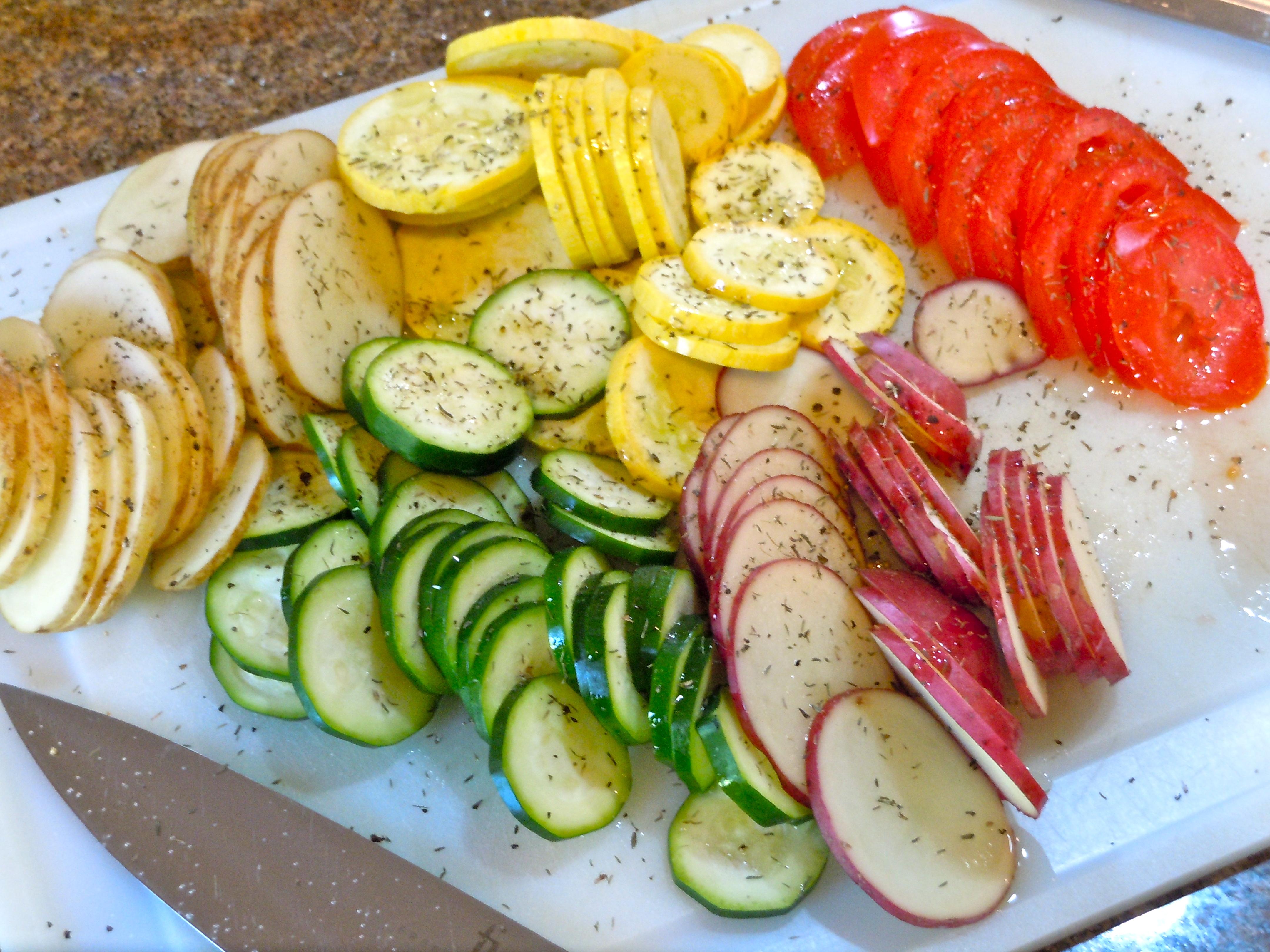 Summer Vegetable Tian | CookiesCakesPiesOhMy