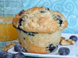 Blueberry Oat Nut Muffins