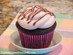 Chocolate Cupcakes with Strawberry Cream Frosting