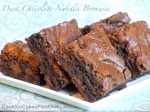 Dark Chocolate Nutella Brownies