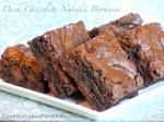 Dark Chocolate Nutella Brownies