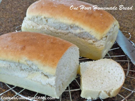 One Hour Homemade Bread
