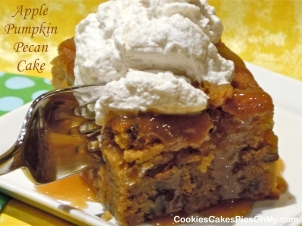 Apple Pumpkin Pecan Cake