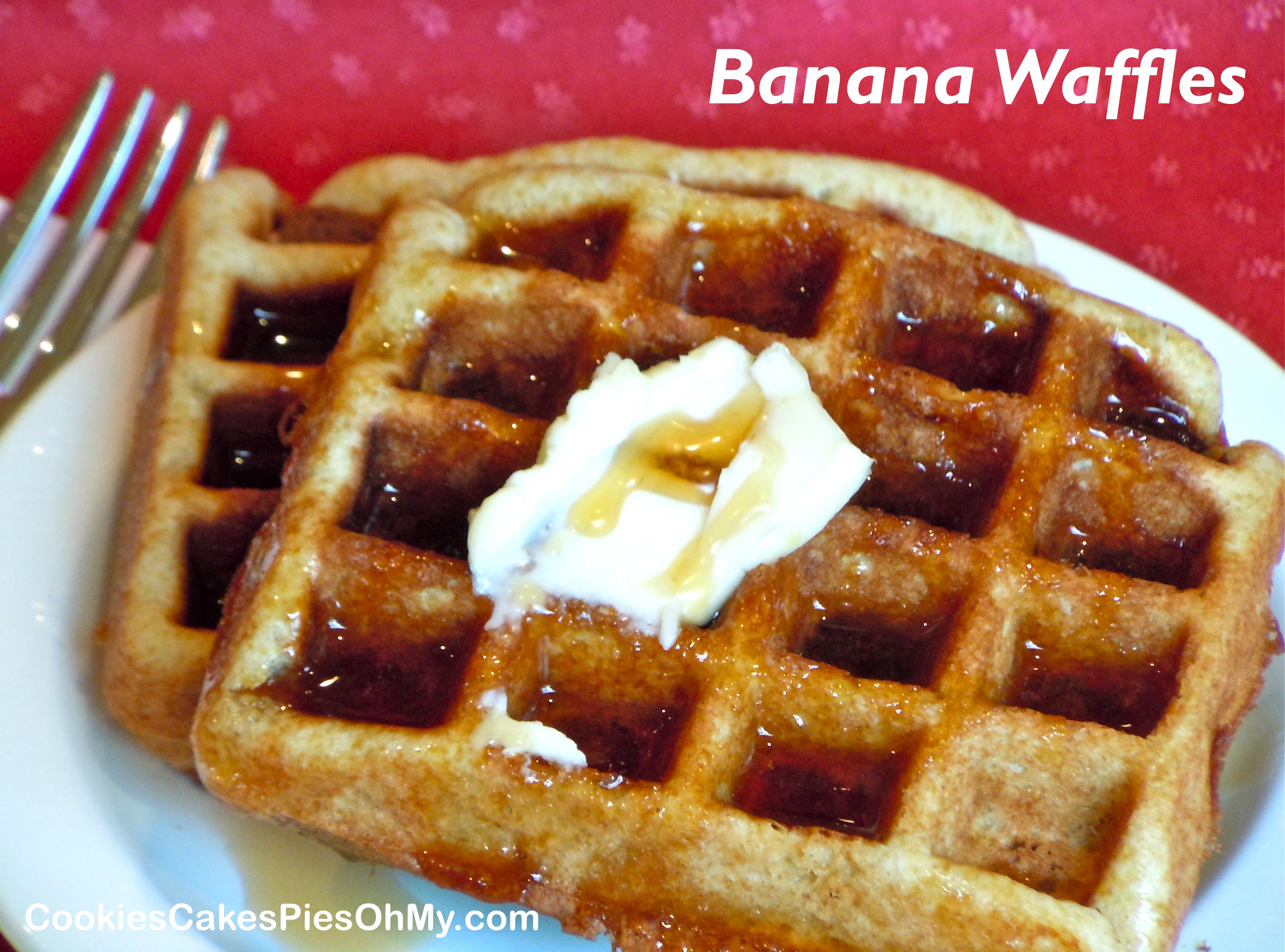 Pumpkin Banana Waffles Recipe — Dishmaps