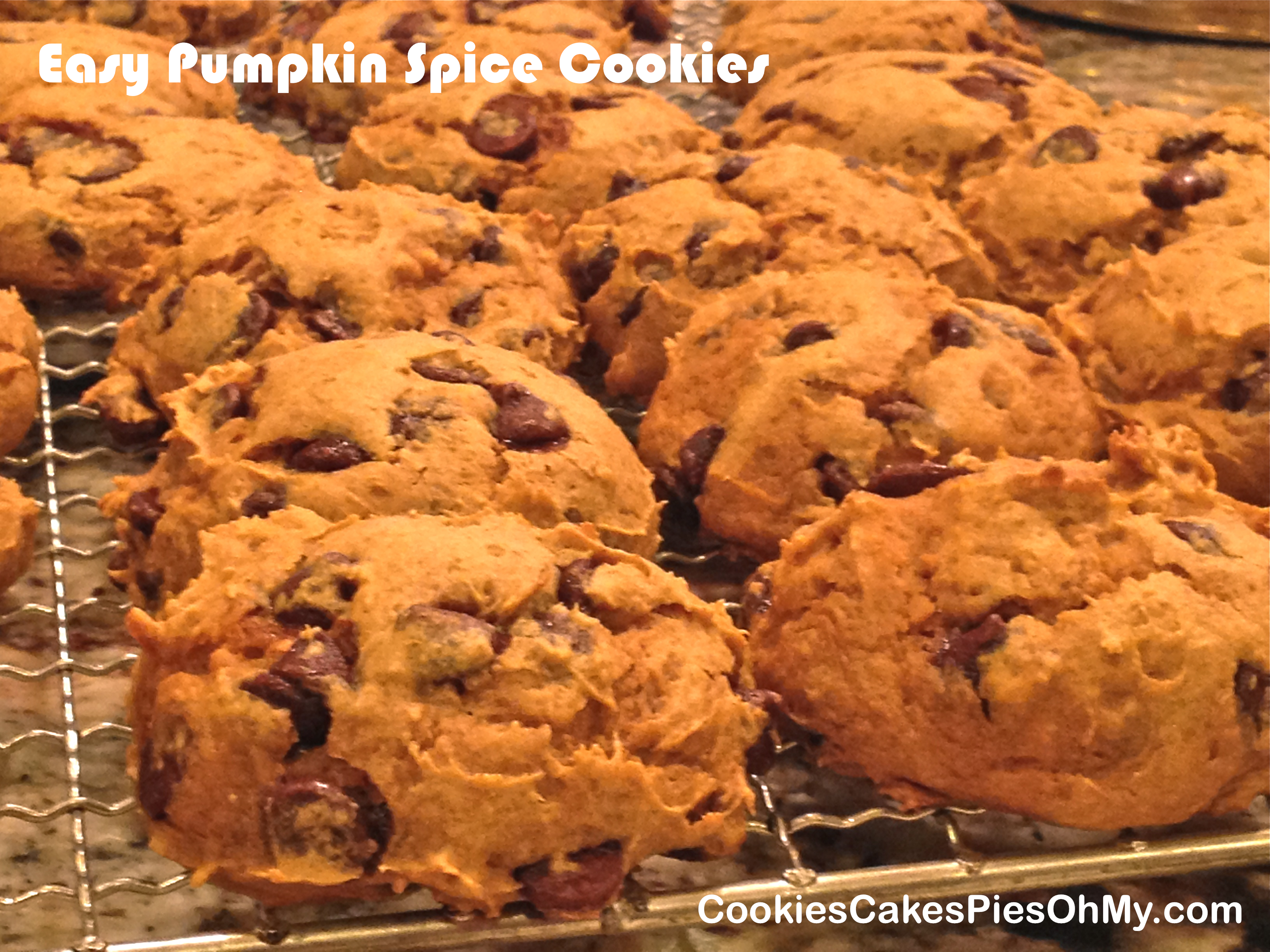 Cookies Spice Cake Mix Pumpkin Chocolate Chips