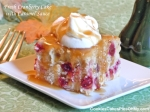 Fresh Cranberry Cake with Caramel Sauce