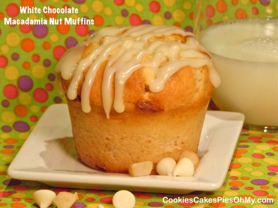 White Chocolate Macadamia Nut Muffins
