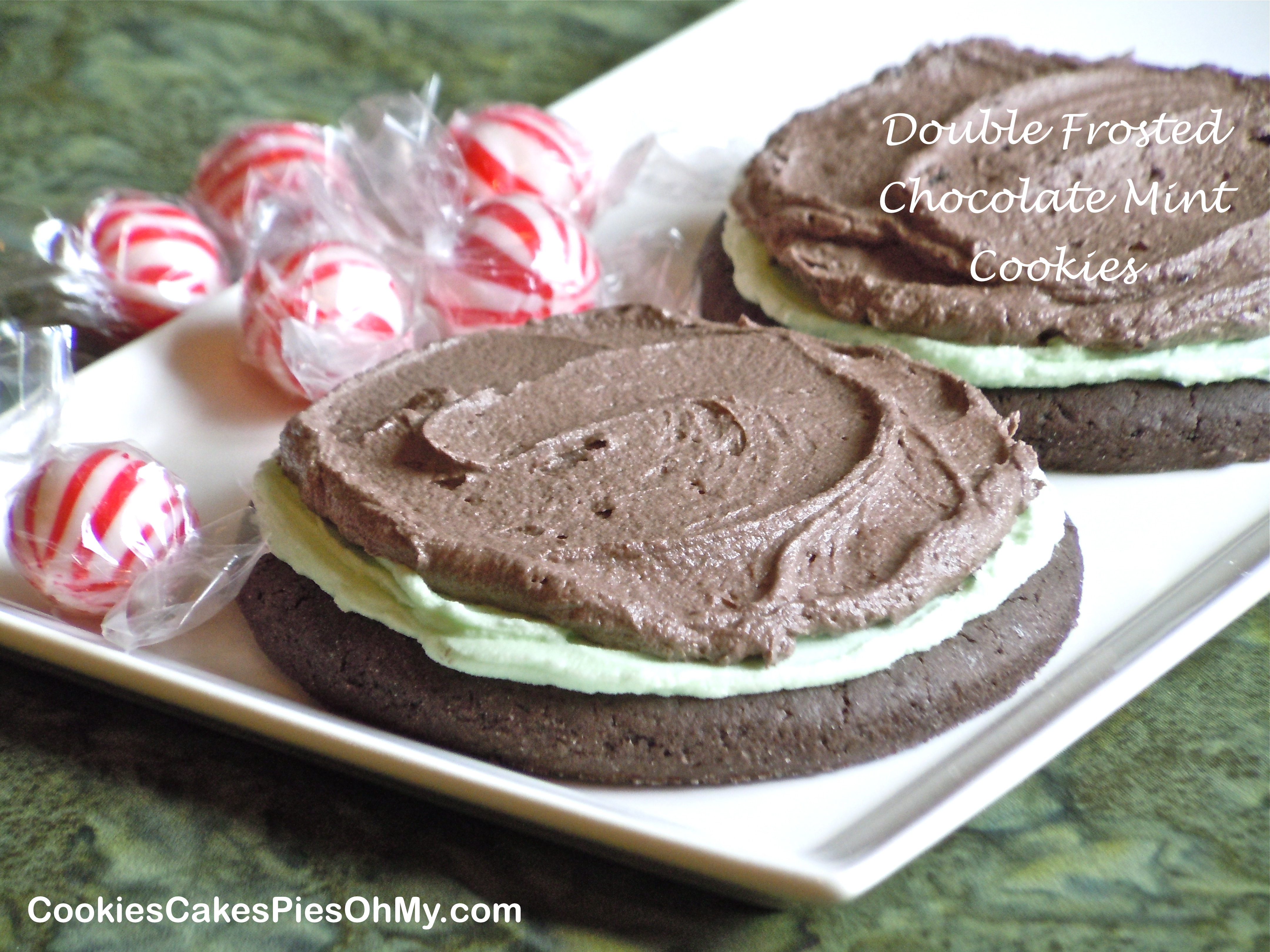 Two Years Ago: Frosted Chocolate Mint Cookies