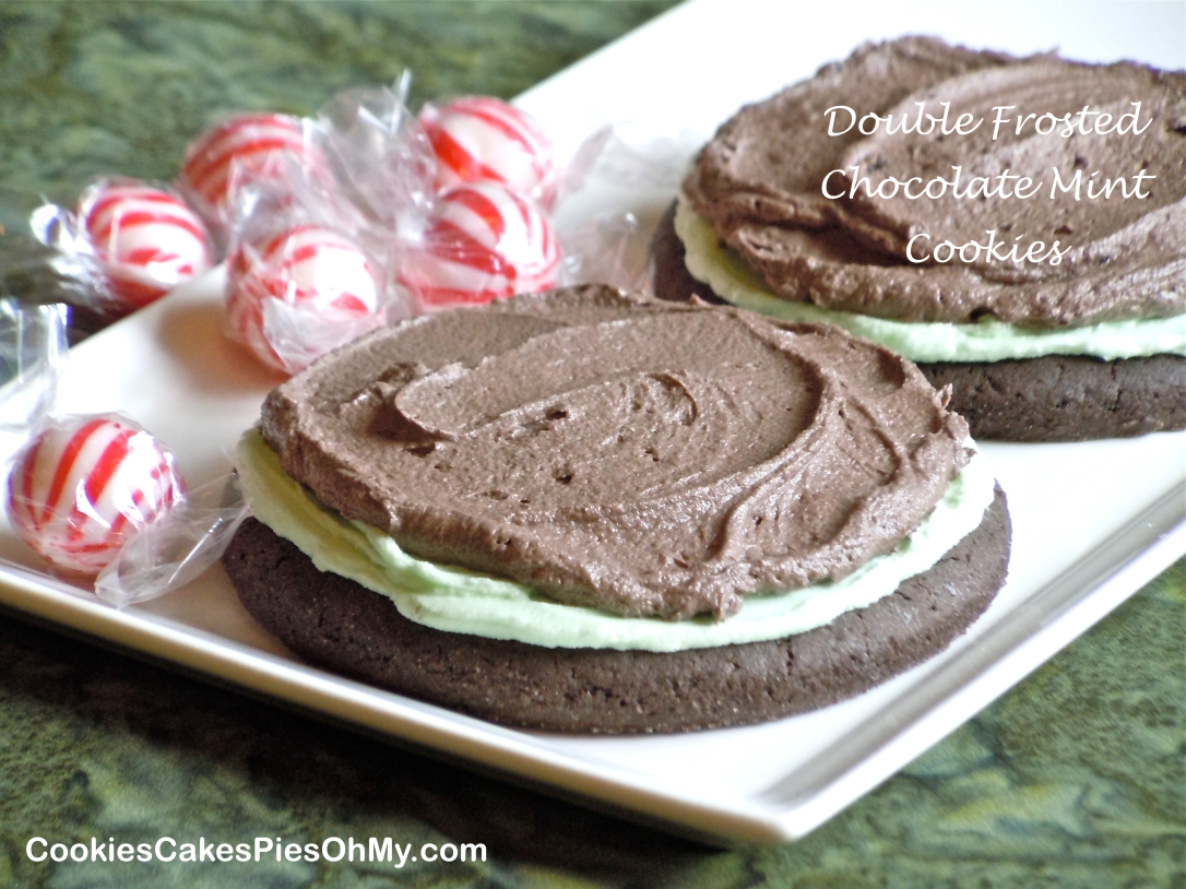 Double Frosted Chocolate Mint Cookies