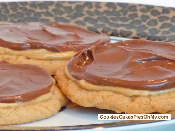 Double Frosted Peanut Butter Milk Chocolate Cookie