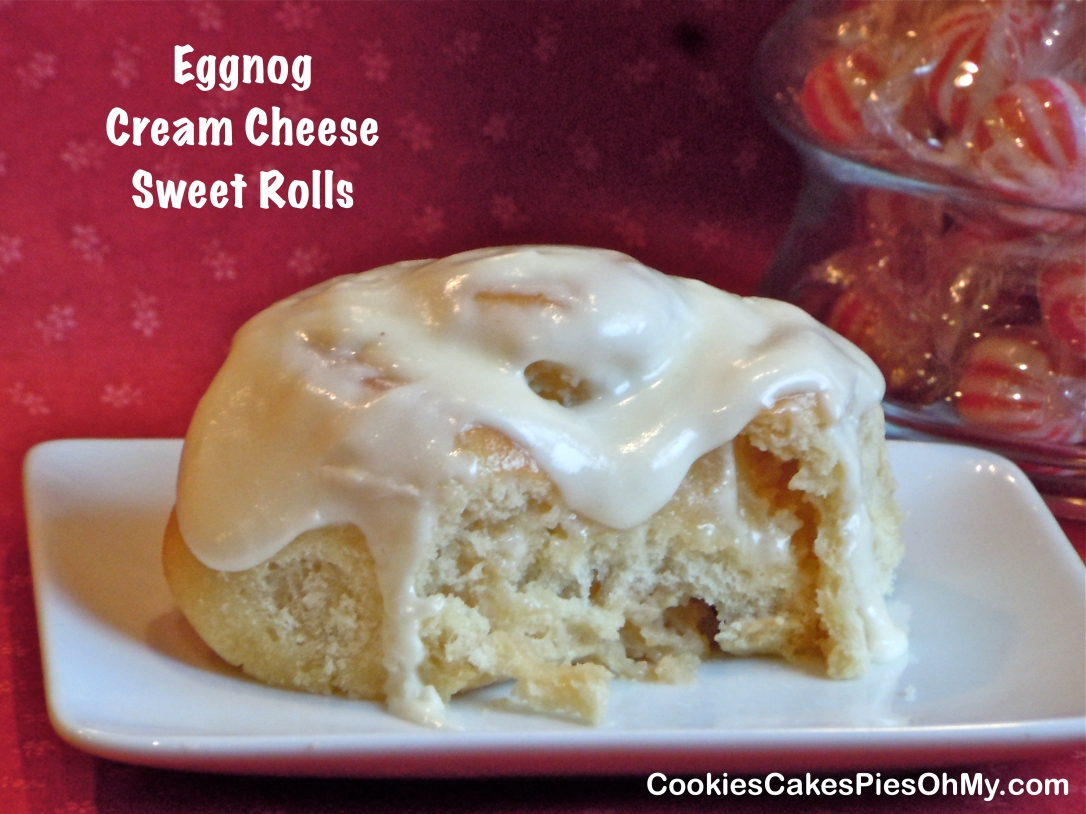 Eggnog Cream Cheese Sweet Rolls