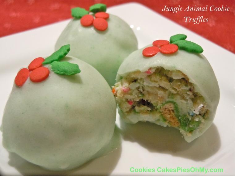 Jungle Animal Cookie Truffles
