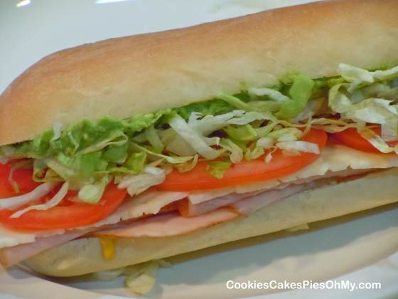 Sub Sandwich on Homemade Bread
