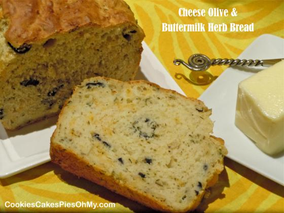 Cheese Olive & Buttermilk Herb Bread