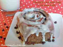 Chocolate Chocolate Chip Cinnamon Rolls 1