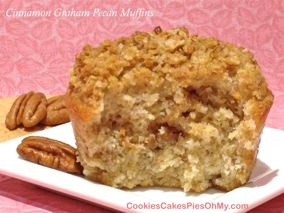 Cinnamon Graham Pecan Muffins
