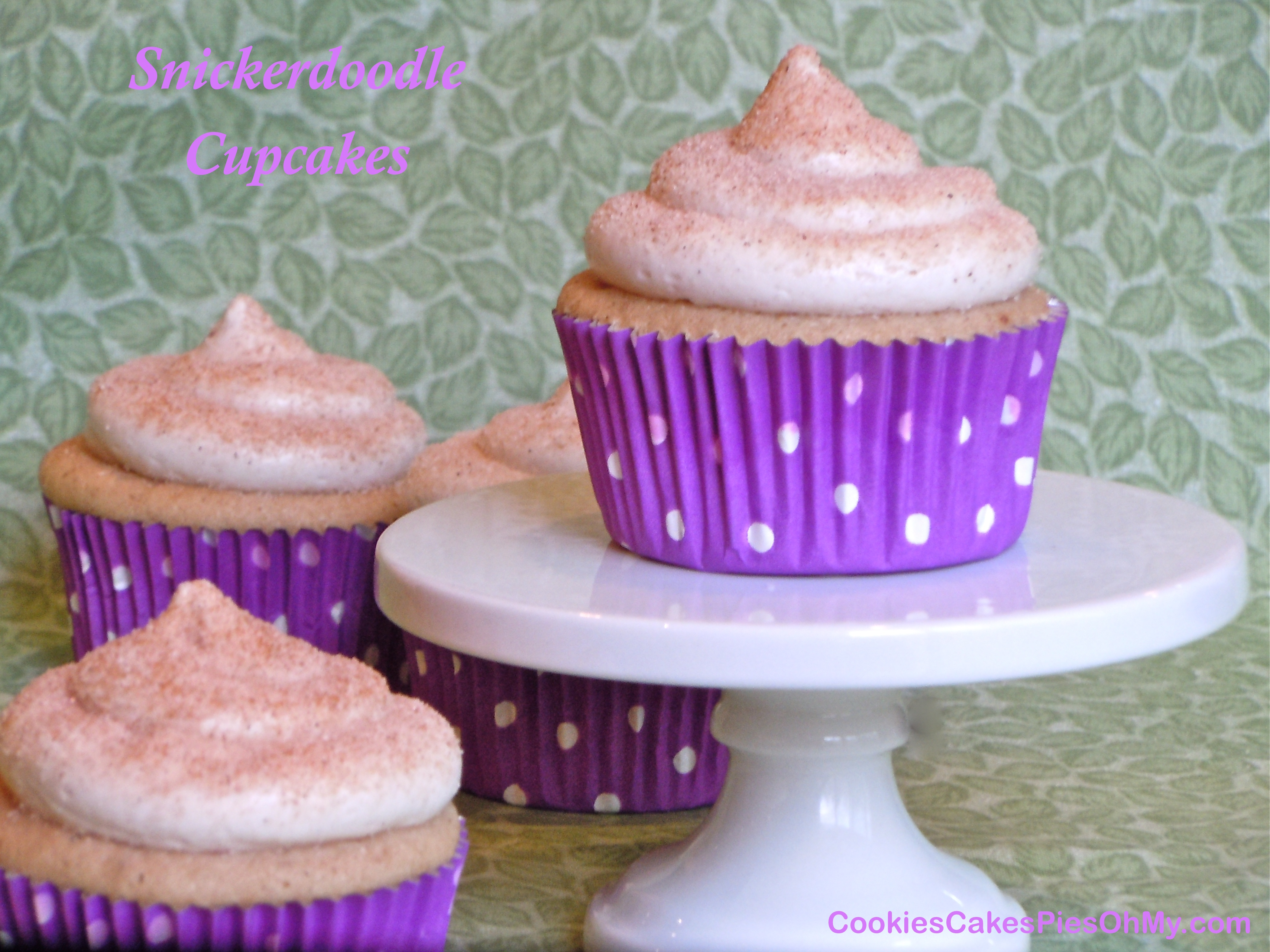 Snickerdoodle Cupcakes with Cinnamon Cream Cheese Frosting