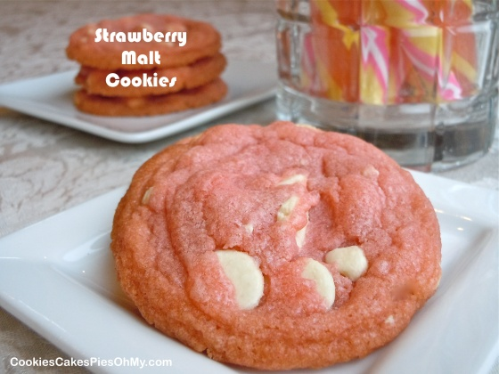 Strawberry Malt Cookies