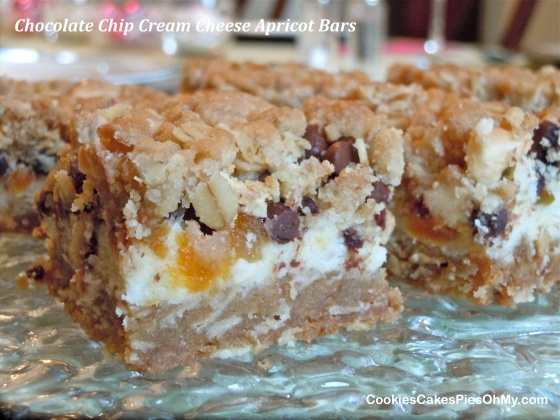 Chocolate Chip Cream Cheese Apricot Bars