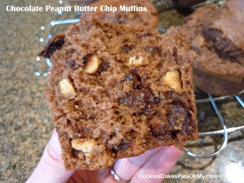 Chocolate Peanut Butter Chip Muffins 2