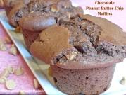 Chocolate Peanut Butter Chip Muffins
