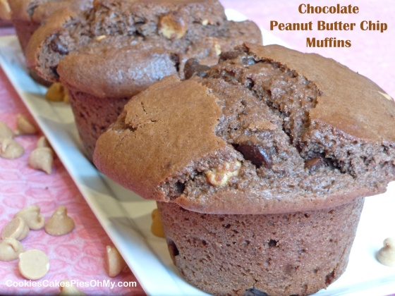Chocolate Peanut Butter Chip Muffins
