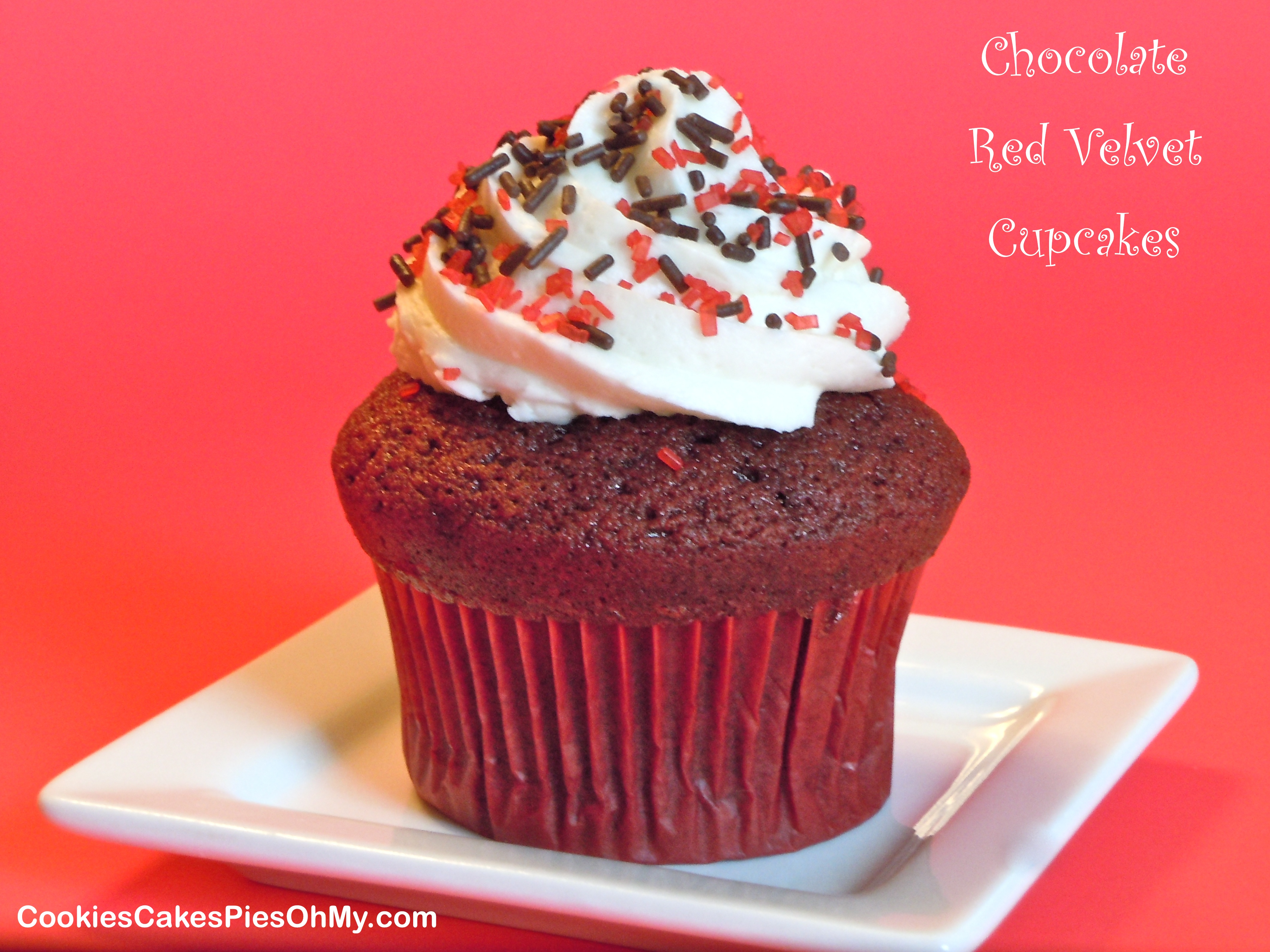 how to make red velvet cupcakes from vanilla cake mix