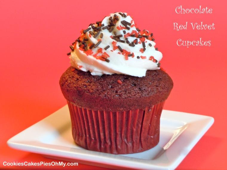 Chocolate Red Velvet Cupcakes