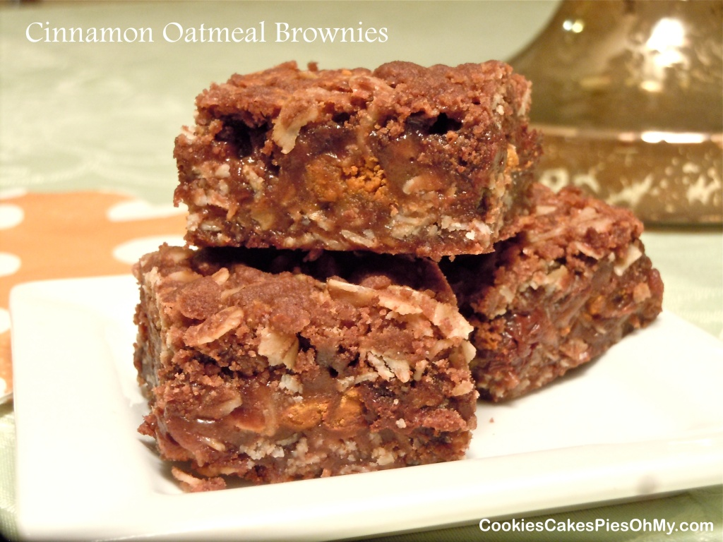 Cinnamon Oatmeal Brownies