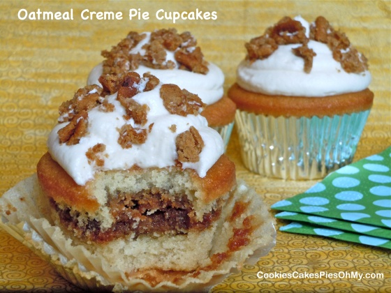 Oatmeal Creme Pie Cupcakes