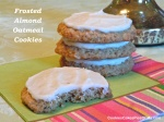 Frosted Almond Oatmeal Cookies