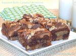 Layered Rolo Caramel Brownies
