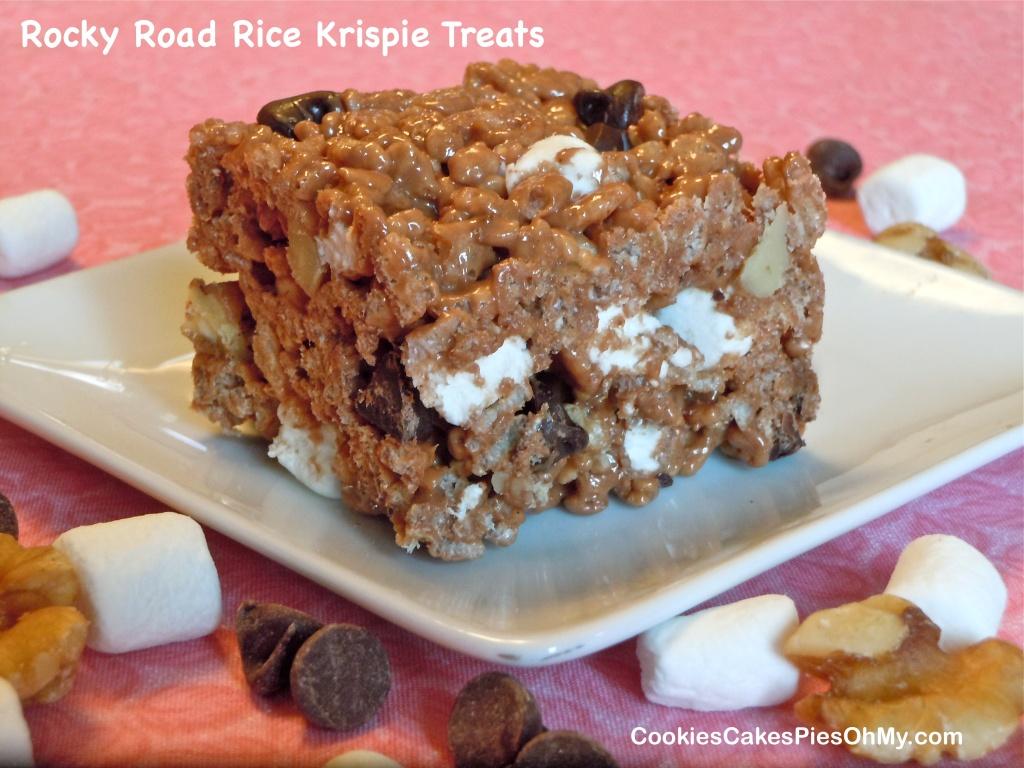 Rocky Road Rice Krispies Treats