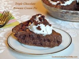 Triple Chocolate Brownie Cream Pie