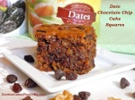 Date Chocolate Chip Cake Squares