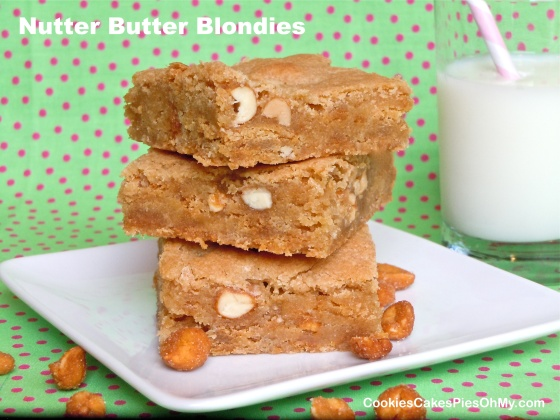 Nutter Butter Blondies
