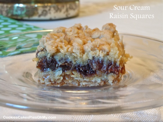 Sour Cream Raisin Squares