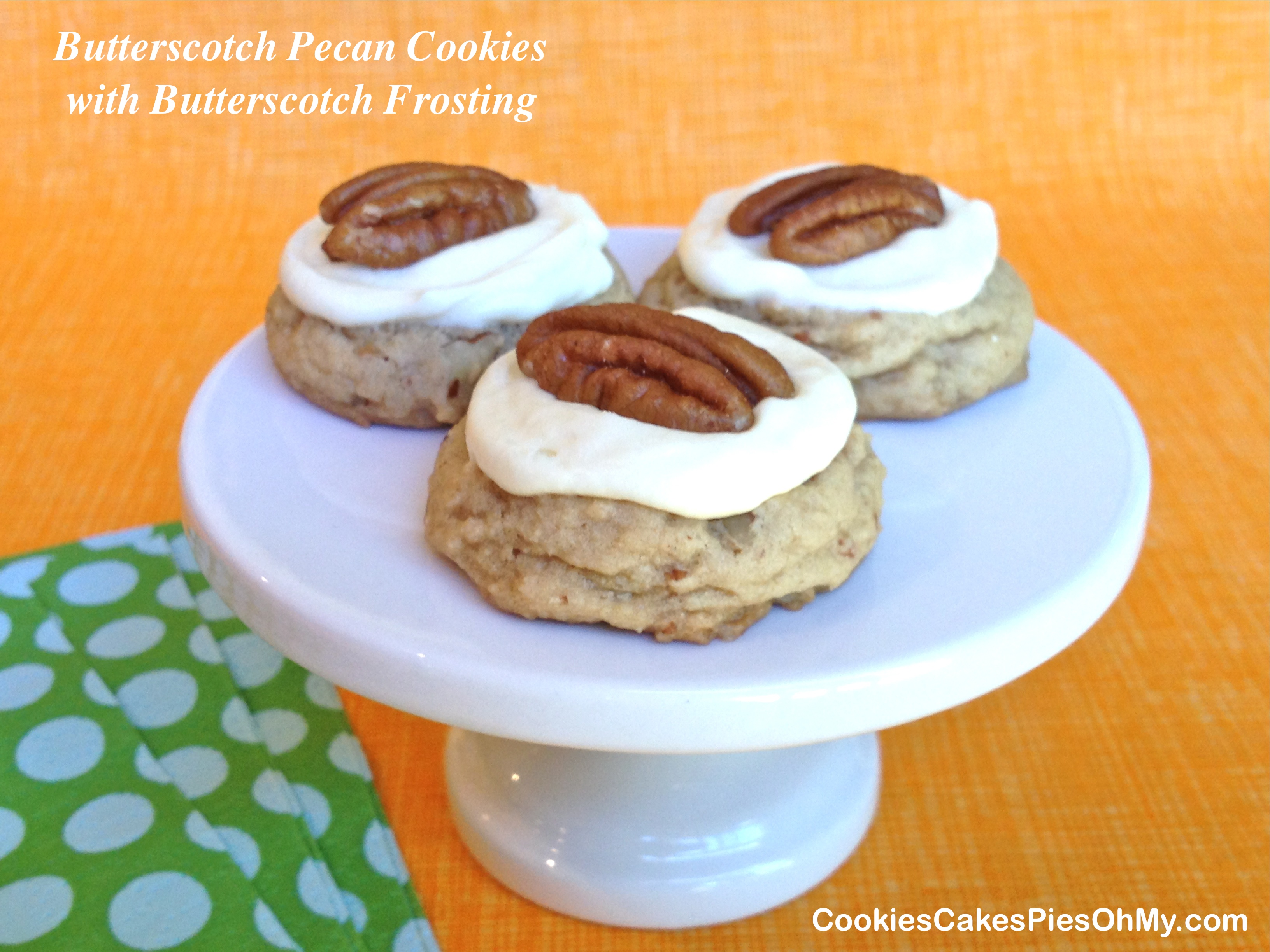 Butterscotch Pecan cookies with Butterscotch Frosting ...