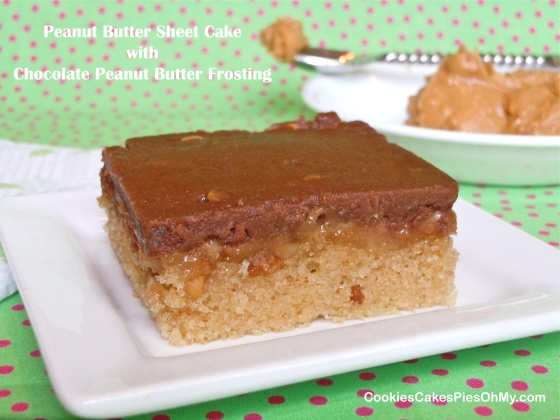 Homemade Chocolate Cake Peanut Butter Frosting: Peanut Butter Sheet Cake With Chocolate Peanut Butter