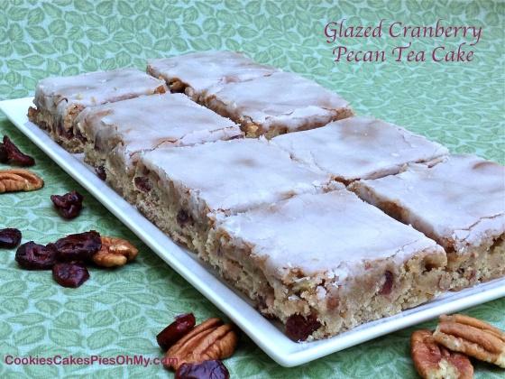 Glazed Cranberry Pecan Tea Cake
